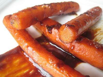Recette de carottes confites et caramel au pain d'épices