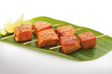 Recette de brochette de saumon teriyaki rapide