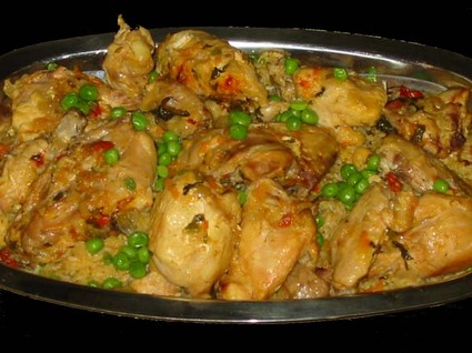 Recette de poulet au riz