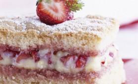 Biscuit de savoie aux fraises pour 6 personnes