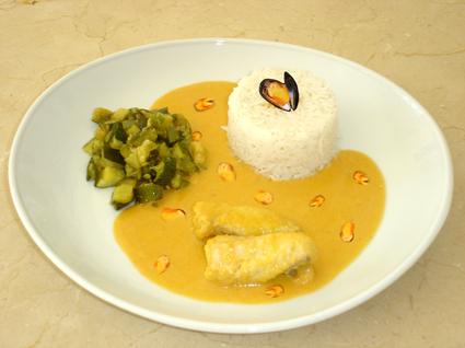 Recette de curry de lotte aux moules