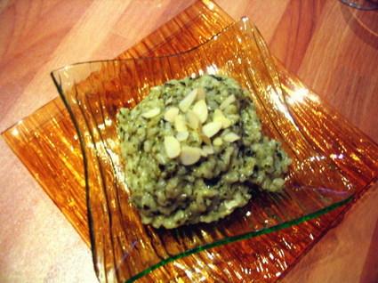 Recette de risotto vert, comme un pesto