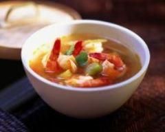 Recette minestrone de légumes parfumés et crevettes