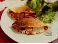 Recette de quesadillas au poulet et aux poivrons