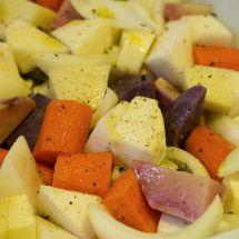 Légumes d'hiver dorés