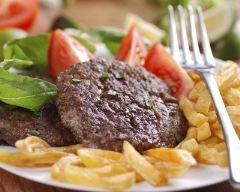 Recette steak haché au parmesan et basilic