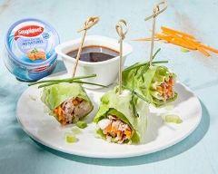 Recette rouleaux de laitue au thon et vinaigrette aigre douce