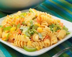 Recette salade de pâtes aux poivrons et carottes râpées
