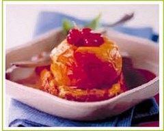 Recette pommes au four à la groseille sur pain perdu
