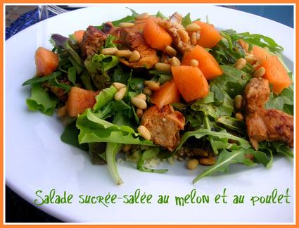 Recette de salade sucrée-salée au melon et au poulet