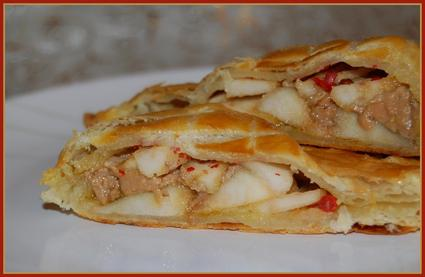 Recette de feuilleté au foie gras et aux pommes