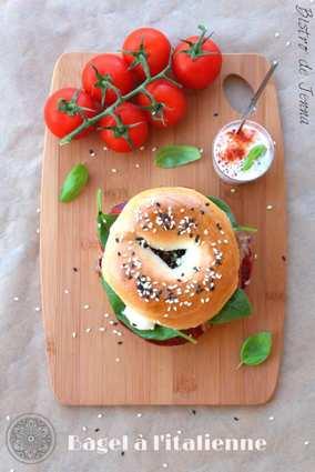 Recette de bagel à l'italienne