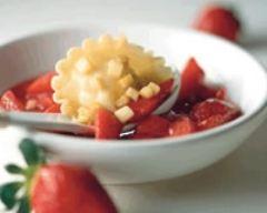 Recette ravioles pommes-fraises