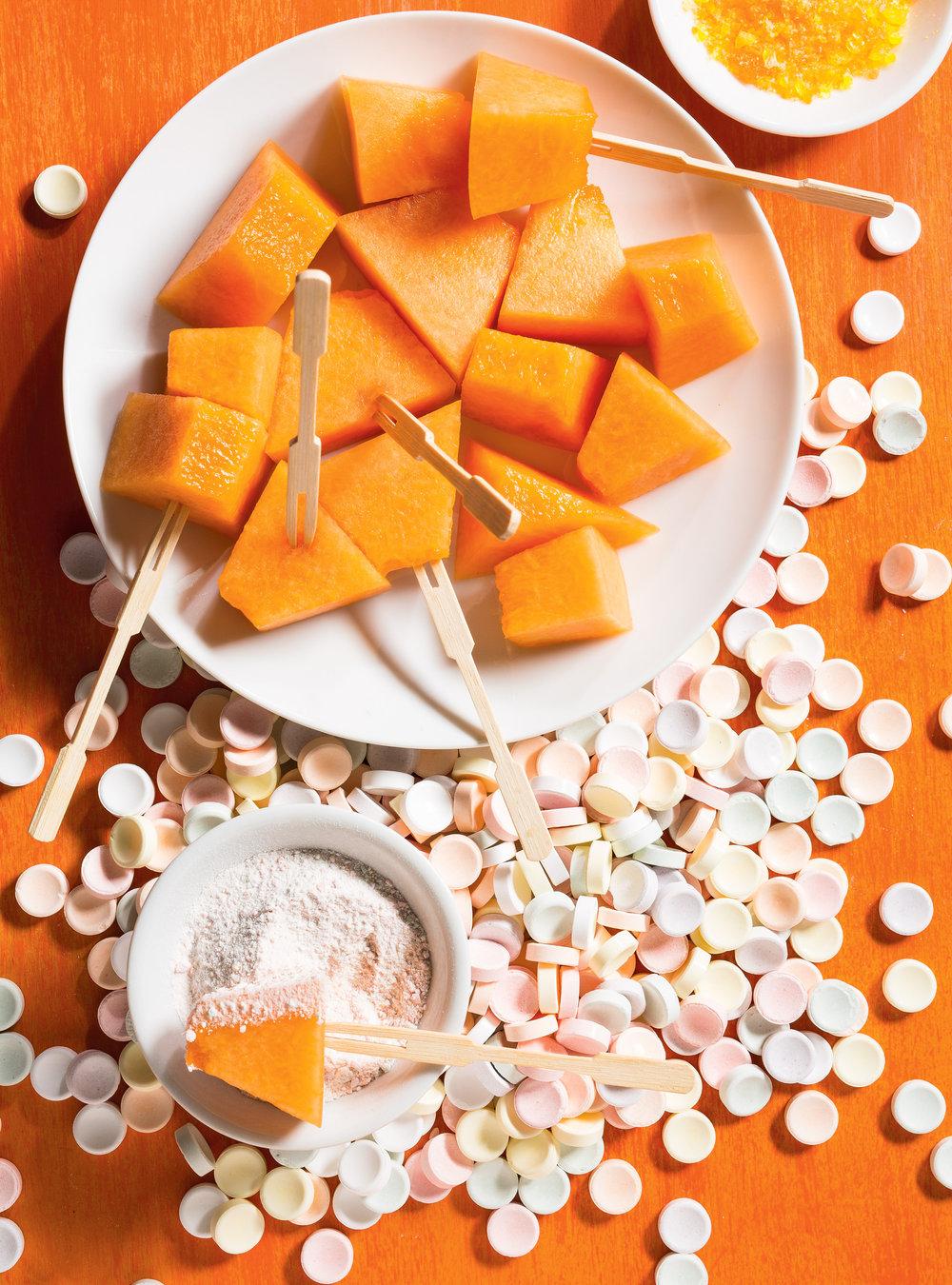 Cantaloup trempé dans la poudre de bonbons | ricardo