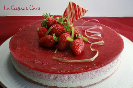 Recette de bavarois fraises rhubarbe