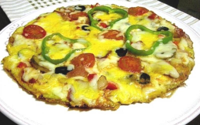 Recette pizza-omelette économique et rapide > cuisine étudiant