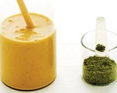 Recette smoothie a l'abricot et au the vert matcha