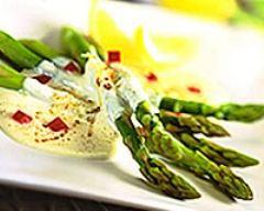 Recette asperges à la crème et au paprika