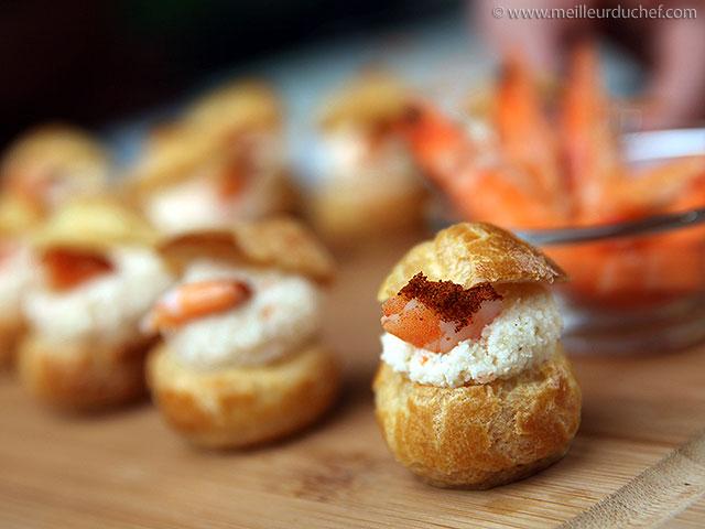 Choux fourrés à la mousse de crevettes  fiche recette illustrée ...