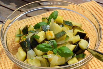 Recette de salade de courgettes au basilic, sauce au citron et à l ...