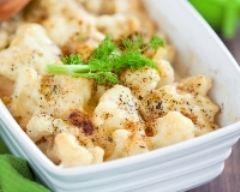 Recette gratin de chou fleur et pommes de terre