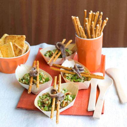 Recette de mini tartares de courgette aux bretzels