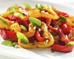 Recette salade de poivrons rôtis