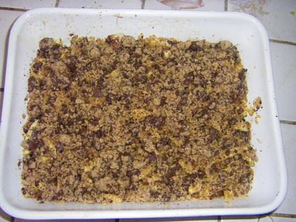 Recette crumble aux pommes et au chocolat (crumble)