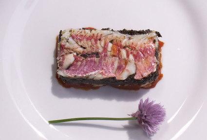 Recette de millefeuille de rouget, purée d'olives noires