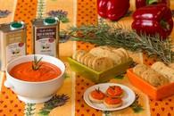 Recette de caviar de poivrons rouges et sablés au romarin