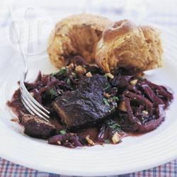Recette steaks de chevreuil à la fondue de chou rouge – toutes les ...