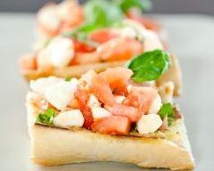 Tartines gourmandes tomates-mozzarella | cuisine az