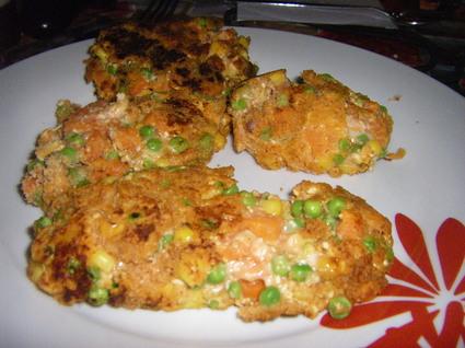 Recette de croquettes de poulet aux légumes et ketchup