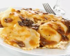 Recette ravioles au fromage sauce champignons