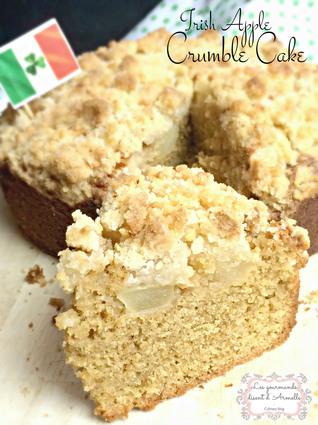 Recette de crumble cake à la pomme  irish apple crumble cake ...