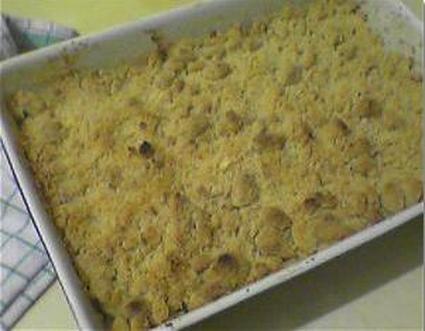 Recette de crumble aux kiwis, amandes et marmelade d'orange