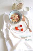 Recette de muesli protéiné, super aliments, fruits rouges et fruits ...