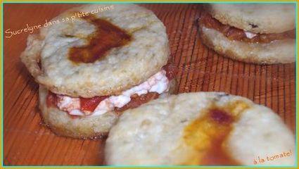 Recette de mini burger à la tomate et au fromage de chèvre