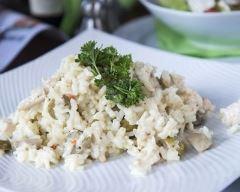 Recette risotto au poulet et aux champignons