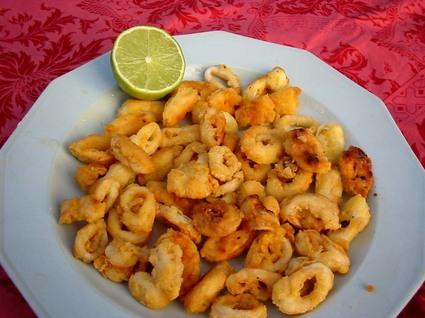 Recette de calamars frits