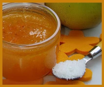 Recette de confiture de potimarron, poires et noix de coco