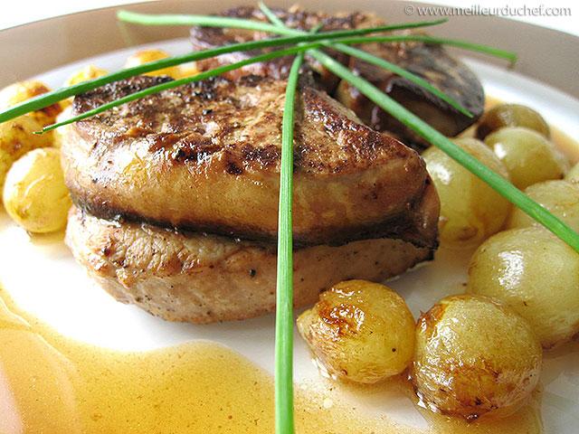 Médaillon de veau et foie gras au raisin  notre recette avec photos ...