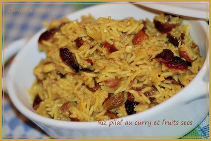Recette de riz pilaf au curry et fruits secs