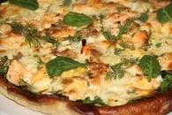 Recette de quiche au saumon, épinards, mozzarella et aneth