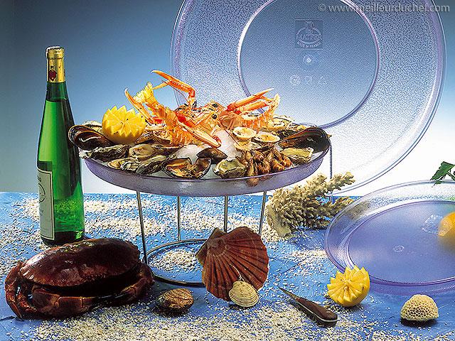 Plateau de fruits de mer  la recette  meilleurduchef.com