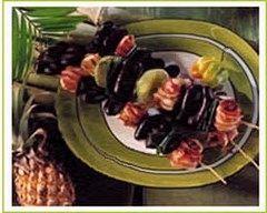 Recette brochettes aux minis boudins noirs et à la banane