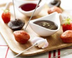 Recette fondue fraises-chocolat version cocktail