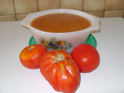 Recette de velouté de tomates