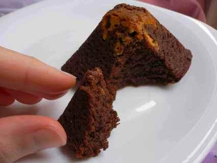 Recette de petits volcans de chocolat noir et blanc