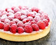 Recette tarte aux framboises et chantilly